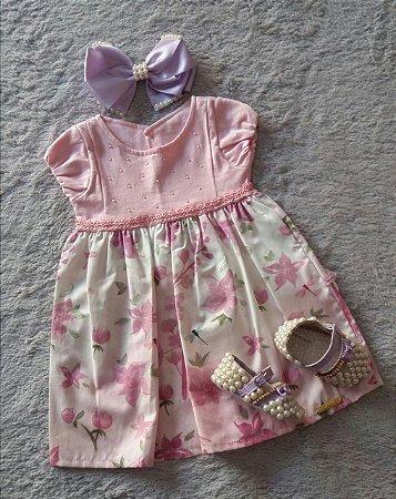 Vestido Bebê Sonho De Nenem Nanda Baby