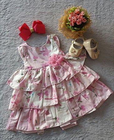 Vestido Bebê Menina Sonho De Nenem