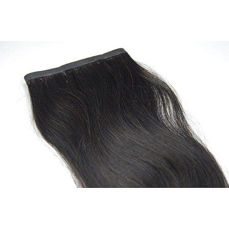 Mega Hair Fita Adesiva Castanho 70cm  2 Telas 28cm Cada