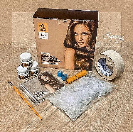 G8  Curso Fabricação Mega Hair Fita Adesiva  DVD mais Material