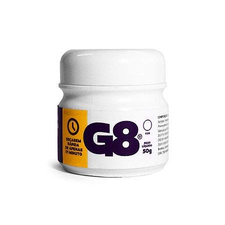 Cola Fita Adesiva Termoativada G8 com 50gr  Cor Transparente