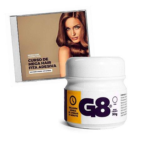 Mega Hair Fita Adesiva Curso de Confecção em DVD mais Cola G8