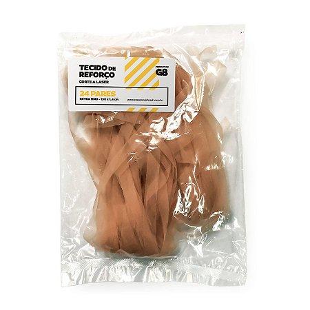 Tecido Reforço Fabricaçao Mega Hair Fita Adesiva Corte Laser 24 Pares