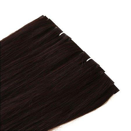 Mega Hair Fita Adesiva Invisivel Castanho 50cm kit Cabeça Inteira 10 Peças com 150gramas