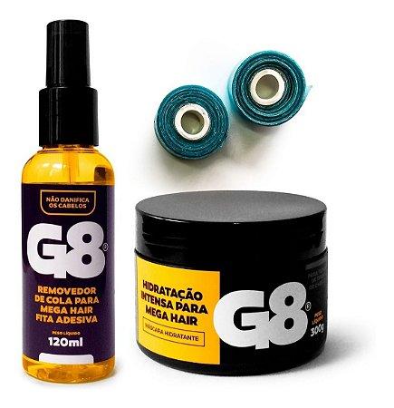 Fita Dupla Face Azul Front Lace + G8 + Kit Manutençao G8