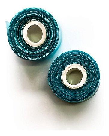 Fita Adesiva Dupla Face Para Mega Hair Azul - 1 Metro