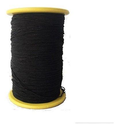 Fio Lastex Preto - Mega Hair-tubo Grande 300 Metros