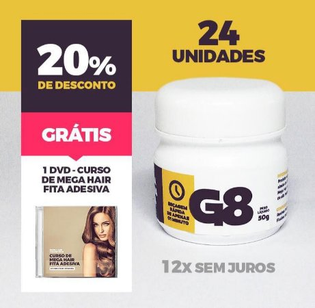 COLA TERMOATIVADA G8 50gr FABRICAÇÕA DE MEGA HAIR ATACADO - 24 unidades