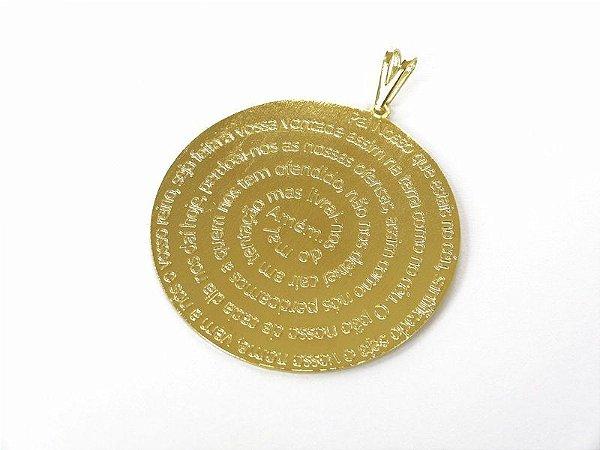 Pingente folheado a ouro Oração do Pai Nosso