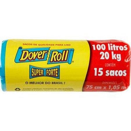 SACO LIXO DOVER ROLL EC. 100 LITROS C/ 15 UNID. RE