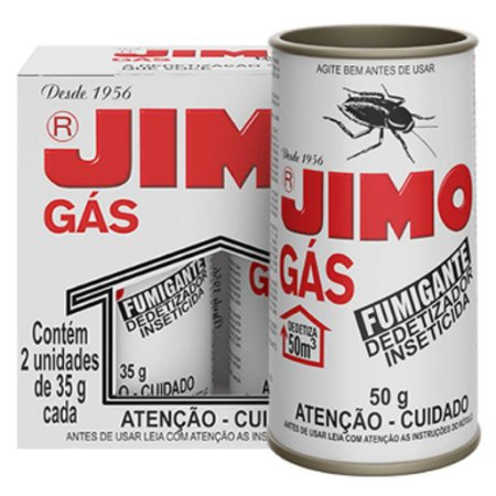 JIMO GAS FUMIGANTE ESTOJO COM 02 X 35 GRAMAS