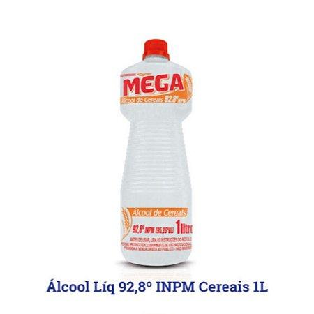 ALCOOL LIQUIDO MEGA 92,8 INPM CEREAIS PROFISSIONAL 01 LITRO
