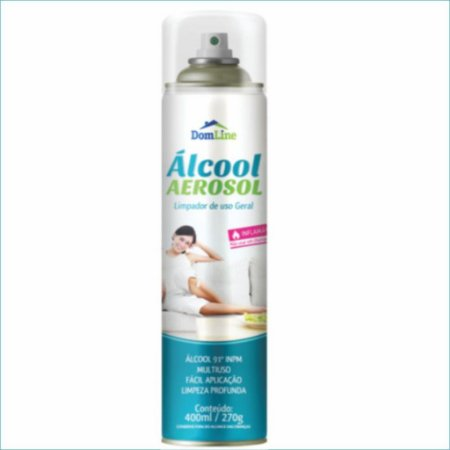 BASTON ALCOOL AEROSOL DOMLINE 400ML/270G