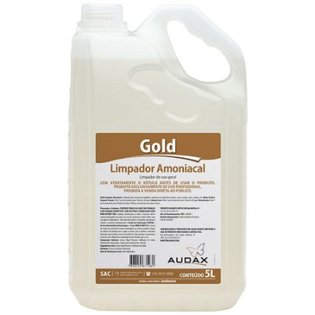 AUDAX GOLD LIMPADOR AMONIACAL 05 LITROS