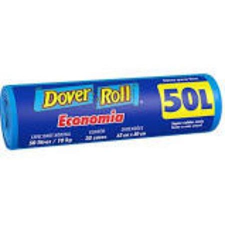 SACO LIXO DOVER ROLL EC. 50 LITROS C/ 30 UNID. REF
