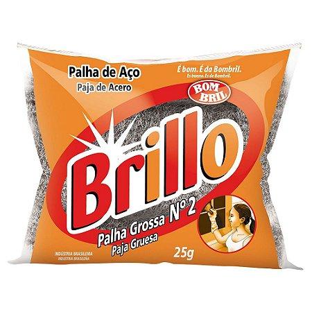 PALHA DE ACO BRILLO BOM BRIL N.2 25 GRAMAS