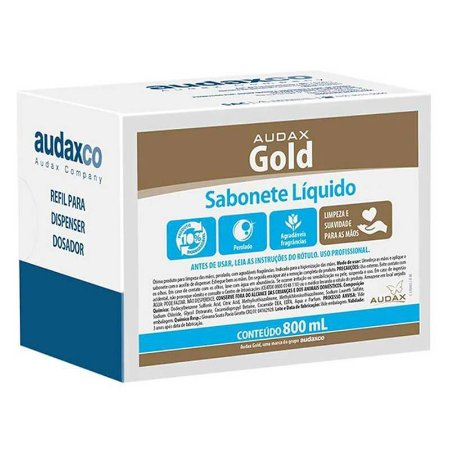 AUDAX GOLD SABONETE ERVA DOCE VERDE 800 ML