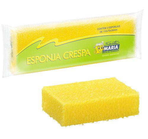 ESPONJA CRESPA SANTA MARIA COM 02 UNIDADES