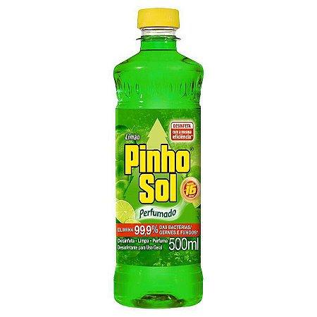 DESINFETANTE PINHO SOL LIMAO 500 ML