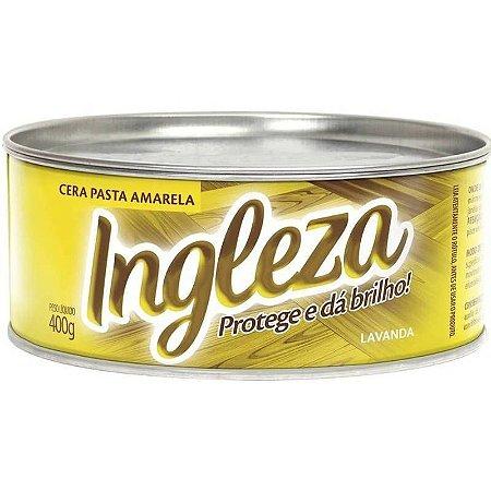 INGLEZA CERA PASTA AMARELA 400 GRAMAS