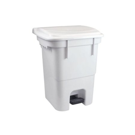 PLASVALE LIXEIRA COM PEDAL 50 LITROS - BRANCO - REF 12908300