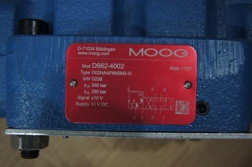 Válvulas De Controle Servo-proporcionais Moog D662-4002