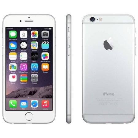 iPhone 6 16GB PRATA iOS 11 Wi-Fi Bluetooth Câmera 8MP - SEMINOVO