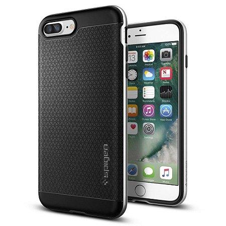 Capa Spigen Satin Silver Prata Preto Apple iPhone 7 Plus
