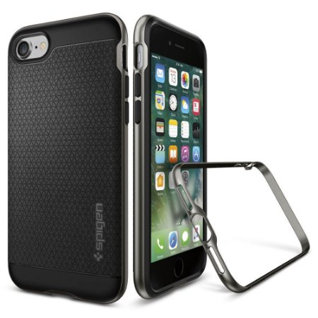 Capa Spigen GunMetal Cinza Espacial Apple iPhone 7 Plus