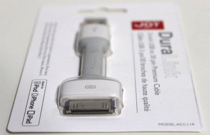 Cabo USB 30 pinos Premium Duralink Apple 3G, 3GS, 4, 4S iPad, iPod