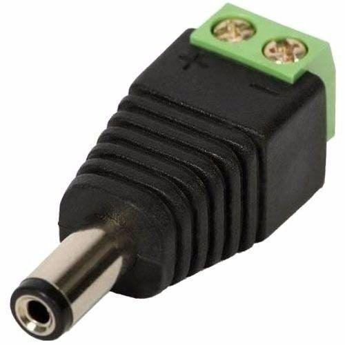 Conector P4 Macho Com Borne Cftv, Fita Led, Câmera de Segurança, Etc