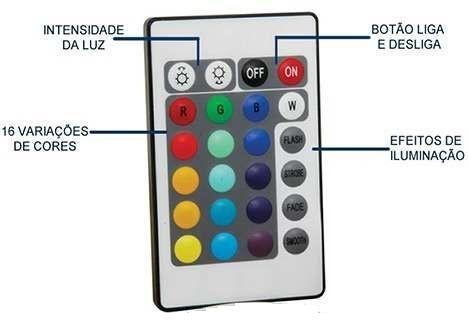 Controle Remoto 24 Teclas Para Fita Led RGB 5050 e 3528