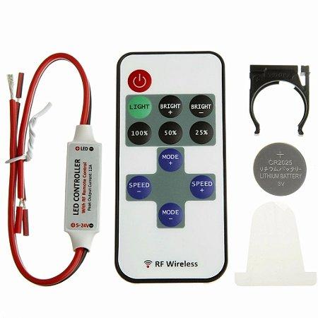Controle Remoto Sem Fio Wireless Dimmer Fita Led, Lâmpadas, etc (12V)