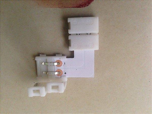 Conector Emenda Para Fita Led 3528 Tipo L (8mm de largura) - Sem Solda