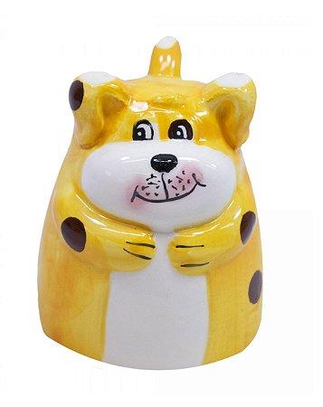 Caneca De Porcelana Formato Cachorrinho 160ml