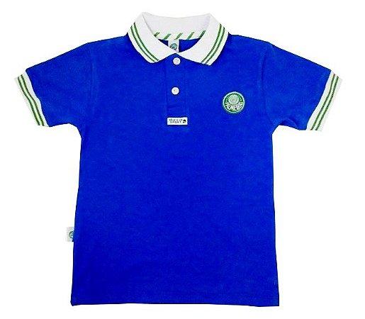 Camisa Polo Infantil Palmeiras Azul Oficial