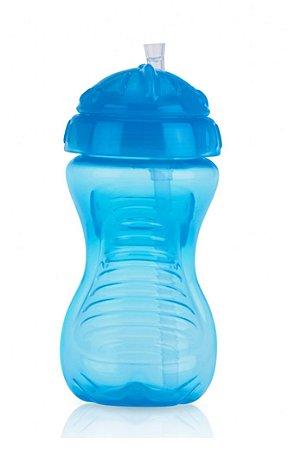 Copo com Canudo de Silicone Azul 300ml Nûby