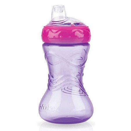 Copo Infantil Com Bico de Silicone Lilás 300ml Nûby