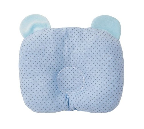 Travesseiro Bebê Anatômico Com Orelinhas Azul - Papi