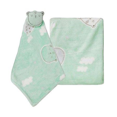 Kit Soninho Baby Ursinho Com 2 Peças Verde Papi