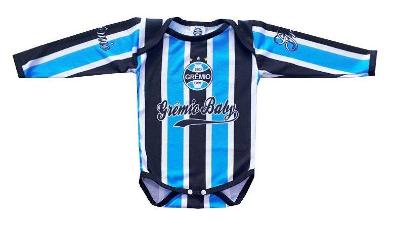 Body Grêmio Manga Longa Listras Oficial