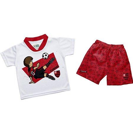 Conjunto Flamengo Infantil Artilheiro - Torcida Baby