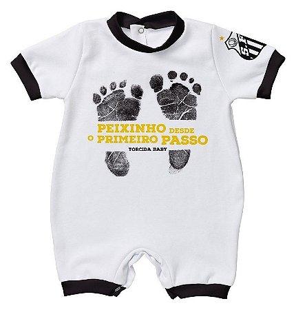 Macacão Bebê Santos Primeiro Passo - Torcida Baby