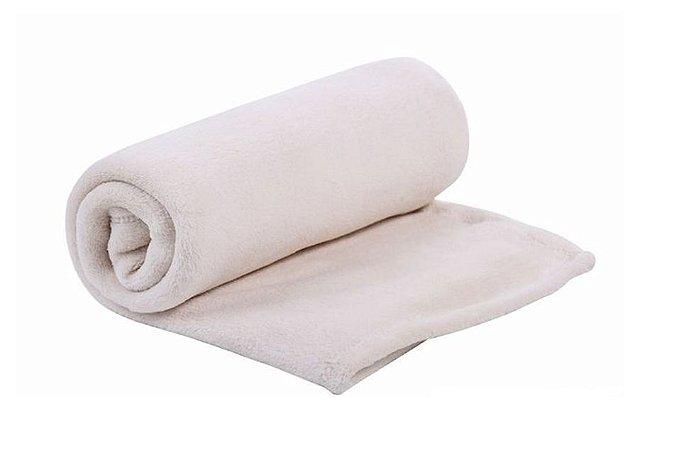 Cobertor Bebê Microfibra Mami Creme 1,10m X 85cm Papi