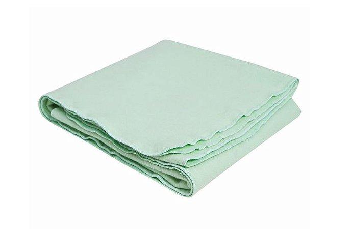 Cobertor Bebê Flanelado Verde Liso 90Cm X 70Cm Papi