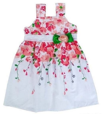 Vestido Infantil Florido Festa - Importado