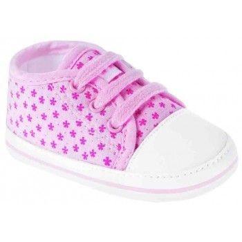 Tênis Bebê Pimpolho Flores Rosa
