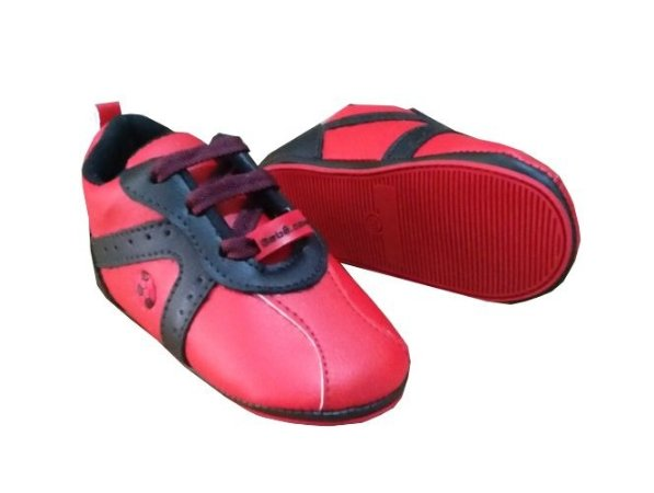 Chuteirinha Bebê Flamengo Vermelha e Preta