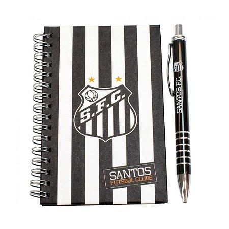 Kit Caneta de Metal e Caderno do Santos Oficial