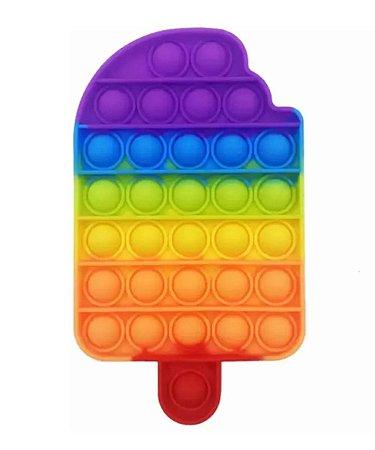 Brinquedo Fidget Toy Pop It Bubble Picolé 14cm